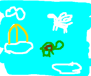 There are turtles & Pegasus in heaven