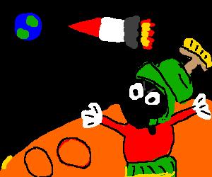Marvin the martian destroys the Earth.. FINALLY!