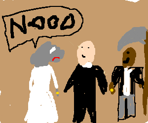 mouse doesnt want to marry black guy with scythe