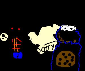 Cookie monster ate my cookies!