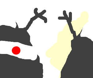 Two mountains one japanese greet eachother drawing by gingerman two mountains one japanese greet eachother m4hsunfo