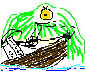 one-eyed alien attacks the titanic