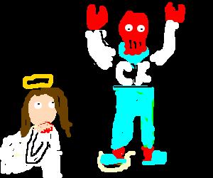 jesus vs zoidberg drawception