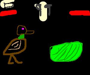 Duck Vs Lettuce Street Fighter