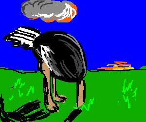 Image result for head hiding underground