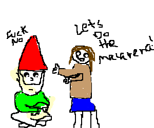 Gnome refuses to dance the Macarena