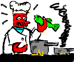 Zoiberg as a chef
