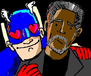 captain america loves morgan freeman