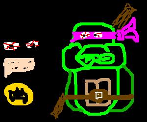 Batman and Donatello legit tripping balls