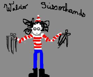 Where's Waldo meets Edward Scissorhands.