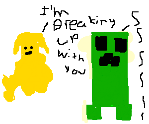 a blonde blob breaks up with a creeper