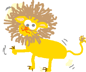 Leanin' like a three legged lion
