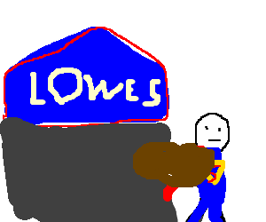 Superman stealing from Lowe's