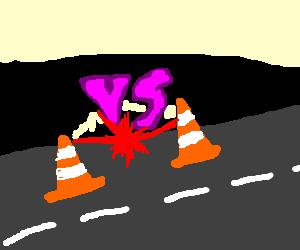 Traffic Cone duel