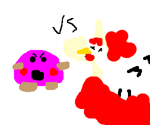 kirby vs dead chicken?