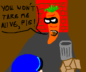 a masked carrot reaches a dead end