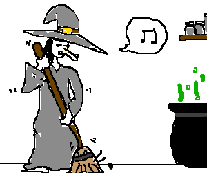 cleaning witch