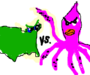 America vs Squid