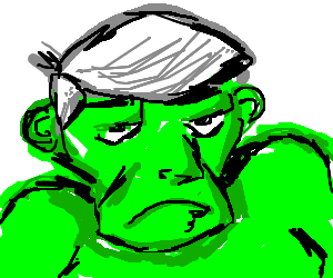 hulk with Geppetto's wig