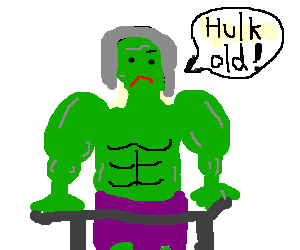 the green hulk as an old person
