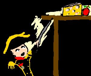 Napoleon encourages frenchmen to great deeds!