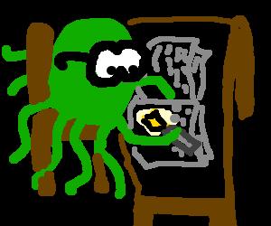 A scholarly Octopus writes a novel