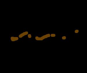 Human Centipede covered in poop