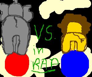 Dunno, draw 2 circus animals having a rap battle