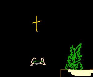 The Pope rolling a spliff .