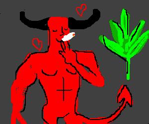 satan loves smoking weed
