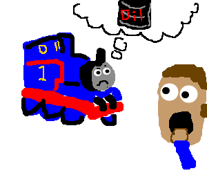 ThomasForgetsToChangeOil, HeadWatchesSurprised