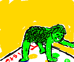 Jolly Green Giant Plays Twister