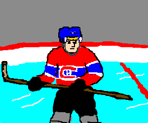 Blonde Montreal Canadiens hockey player