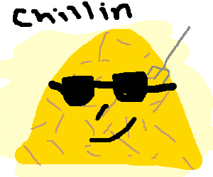 Brown haystack chillin with sunglasses