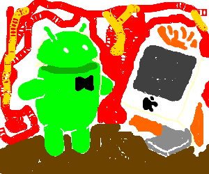 Android and Macintosh get married in hell