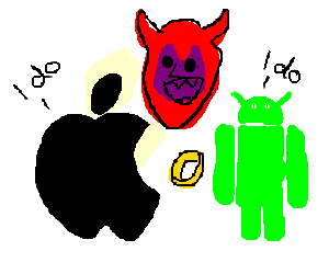 Unholy unity of an apple and an android