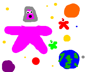 Patrick Starfish and friend chillin' in space