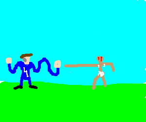 Mister Fantastic vs Dhalsim