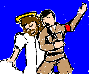 jesus and hitler ballroom dancing