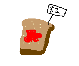 bread covered in blood costs two dollars