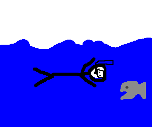 Snorkeler is attacked by piranhas.