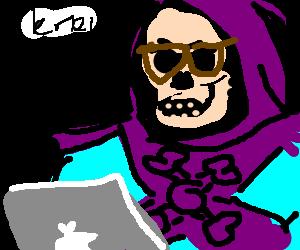 Hipster skeletor