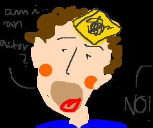Random doodle on post-it.