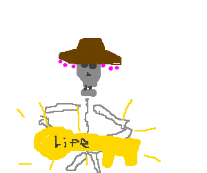 A Mexican skeleton discovers the key to life