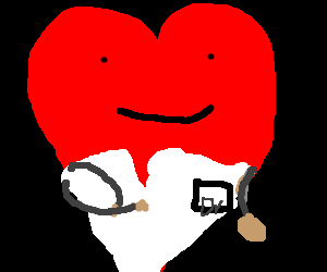 Heart trying to pass for a doctor