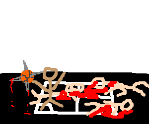 Lone Survivor of Four-square Death-match