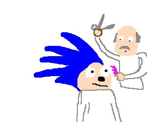 Sonic The Hedgehog Decides To Get A Haircut