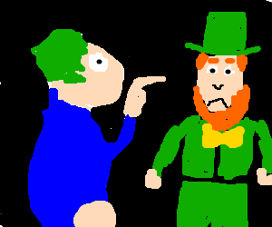 Lemming tells off Leprechaun
