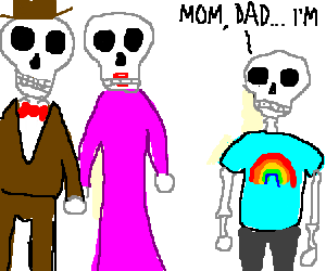 skeleton is about to step out of the closet