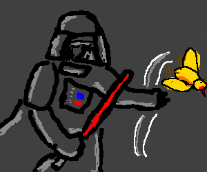 Darth Vader flipping the bird